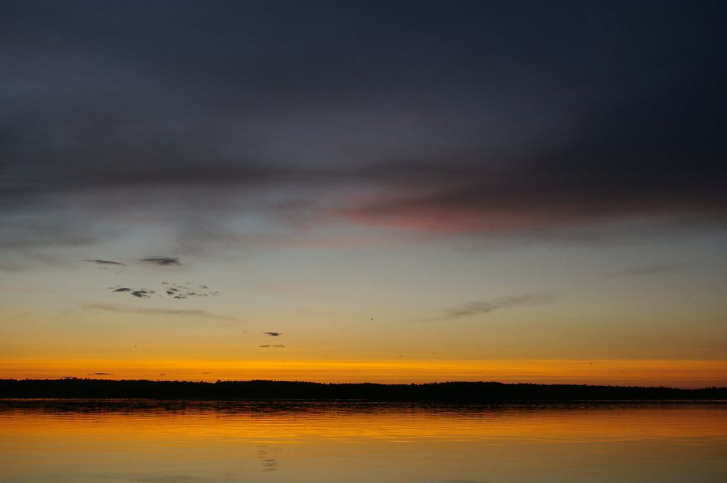 sheep island sunset